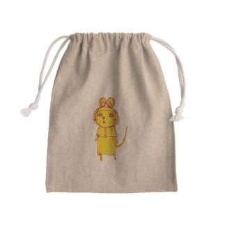 パンダマウス頭巾 雑な変身(怒り少なめ) Mini Drawstring Bag