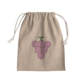 食欲のわたくし(ぶどう) Mini Drawstring Bag