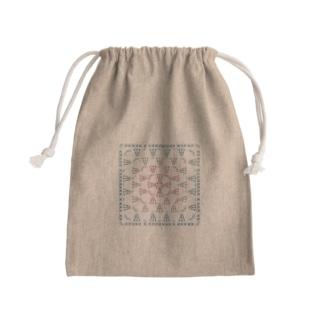 編み図きんちゃく-グラニースクエア Mini Drawstring Bag