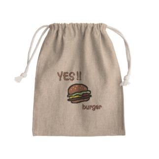 YES!! burger Mini Drawstring Bag
