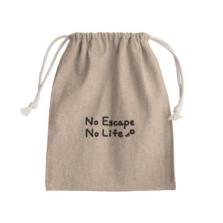 謎はないけど謎解き好きのお店のNO ESCAPE, NO LIFE(手書き風) Kinchaku