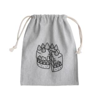 特別な日のショートケーキ-モノクロ Kinchaku