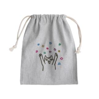 ひゃっほうらく Mini Drawstring Bag
