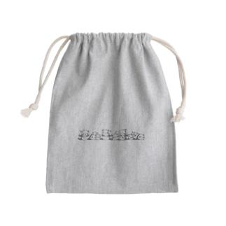 パンダらけ Mini Drawstring Bag