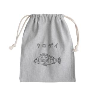 クロダイ ゆるい魚イラスト 海 釣り 黒鯛 チヌ Kinchaku