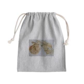 スタッフの描く牛たち Mini Drawstring Bag