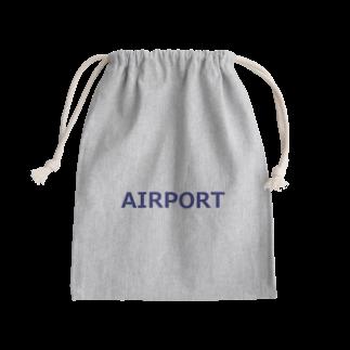 アメリカンベースのエアライングッズ AIRPORT Kinchaku