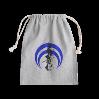 切り絵ariの侍-BLUE Kinchaku