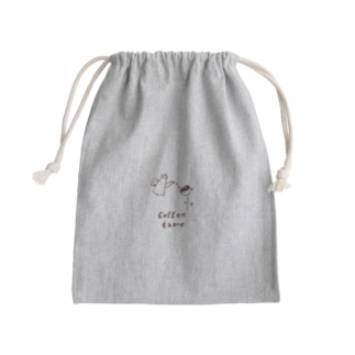 coffee time 巾着 Mini Drawstring Bag