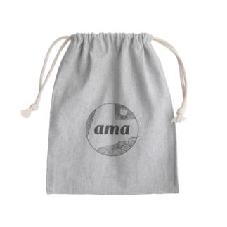 amaロゴ 巾着袋 Kinchaku