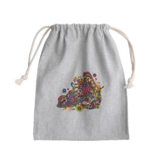 サイケな宇宙 Mini Drawstring Bag