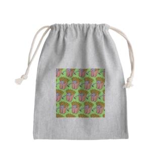 魅惑のフライドポテト🍟 GULTY PLEASURE FRENCH FRIES GREEN Mini Drawstring Bag