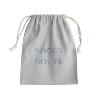 NO CATS NO LIFE Mini Drawstring Bag