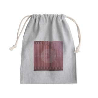 【PEACEFUL PASSAGE OF TIME】 Mini Drawstring Bag