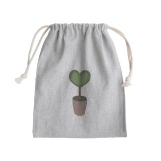 大人のためのねこのハート♥グリーンの植木鉢 Kinchaku