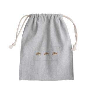 クロワッサン Mini Drawstring Bag