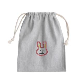 ほんとうにウサギ Mini Drawstring Bag