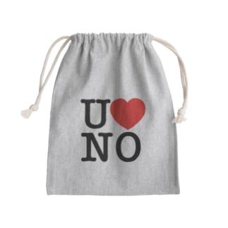 I LOVE UNO(黒文字) Kinchaku