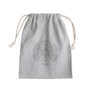編み図きんちゃく-アイリッシュクロッシェのバラ Kinchaku