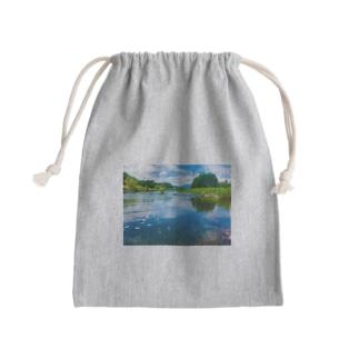 荒川(in栃木) Mini Drawstring Bag