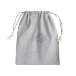 ヒョウモントカゲモドキのポンネネ Mini Drawstring Bag