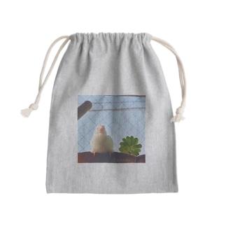 白文鳥のチマフミ Kinchaku