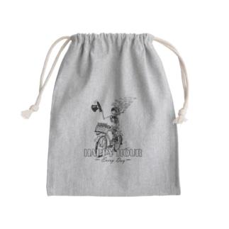 """""""HAPPY HOUR""""(B&W) #1 Mini Drawstring Bag"""