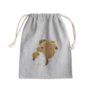 モルモットパラダイス-もるぱふぇ。 Mini Drawstring Bag