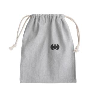 家紋 光琳蝙蝠(ワンポイント 黒) Kinchaku