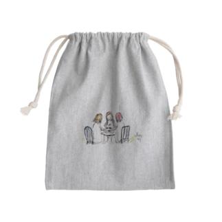 ムラナギ/ヌガーポップ Mini Drawstring Bag