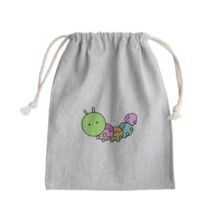 イモムシ Mini Drawstring Bag