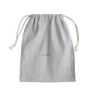 no logo. Mini Drawstring Bag