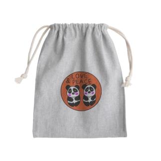 双子パンダ誕生記念 Mini Drawstring Bag