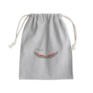 ゴチ★完食スイカ♪ Mini Drawstring Bag