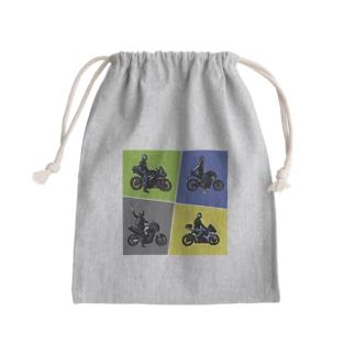 バイク部 Mini Drawstring Bag