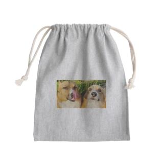 ちい むう ととろ Chi Mu Totoroのヤリキレナイ コーギー Mini Drawstring Bag