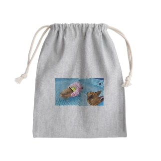 ちい むう ととろ Chi Mu Totoroの浮かぶ事に気付き  泳がなくなった犬 Mini Drawstring Bag