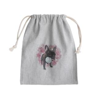 フレブル ブリンドル ボール渡さない Mini Drawstring Bag
