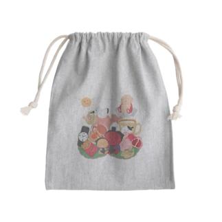 子宝縁起物欲張りセット Mini Drawstring Bag