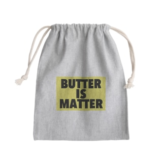 BUTTER IS MATTER Mini Drawstring Bag
