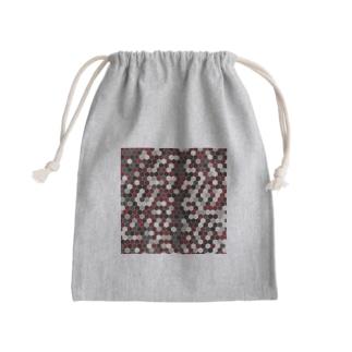 ヘキサゴン Mini Drawstring Bag
