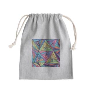 カラフル Mini Drawstring Bag