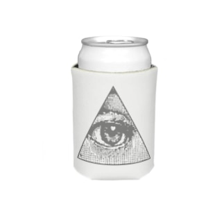 Illuminati eye triangle (gry) Koozies