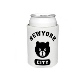 NYC BEAR ニューヨークシティベアー 熊 カレッジロゴ Koozies
