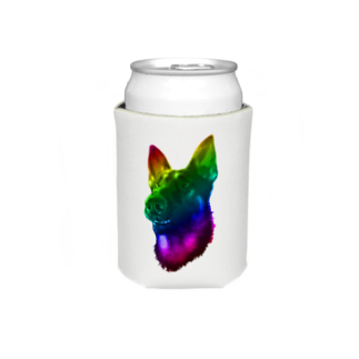 狂気のいぬ屋さんの虹色犬 Koozies