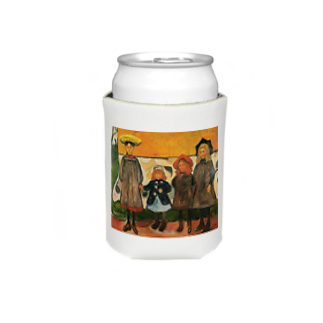 Art Baseのムンク / 1903 / Four girls in Arsgardstrand /Edvard Munch Koozies