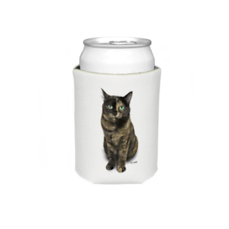 kinako-japanのサビ猫のキューちゃん 背景白 Koozies