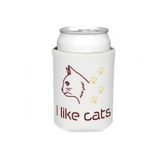 シンプルな猫好きに Koozies