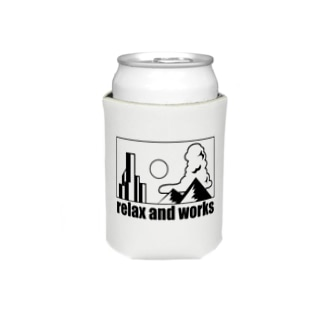 relax and works items Koozies