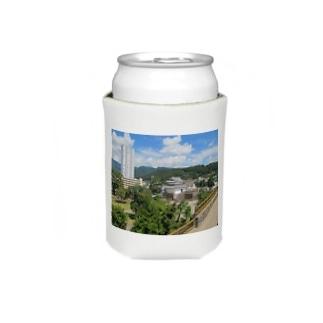 日本の城:甲府城と市街地の風景 Japanese castle: view of Kofu castle & around Koozies